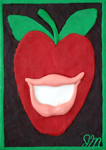 Red Apple: Chew-By-Numbers Gum Art Kit